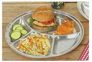 Trenton Gifts Reusabel Stainless Steel Divided Plate | Stronger Than Paper & Plastic